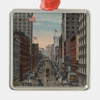 Seattle, WAView of 2nd Ave from Yesler Christmas Ornament