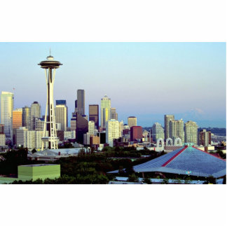 Seattle with Mount Rainier Washington State U S Acrylic Cut Outs