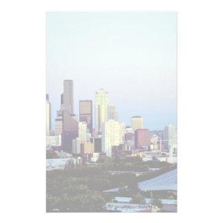 Seattle with Mount Rainier, Washington State, U.S. Stationery Design