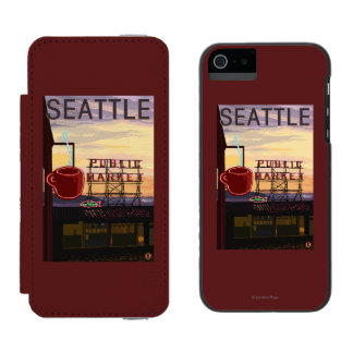 SeattlePike Place Market Sign and Water View Incipio Watson™ iPhone 5 Wallet Case