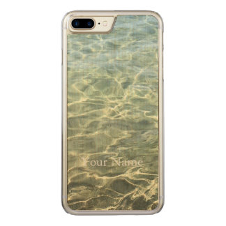 Seawater Beach Carved iPhone 8 Plus/7 Plus Case