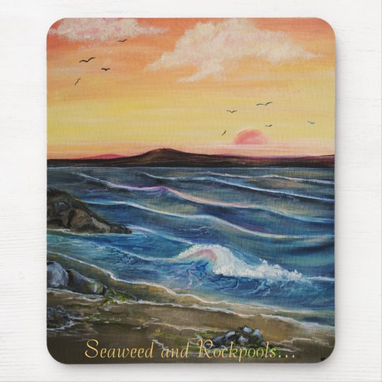 Seaweed and Rockpools.. Mouse Mat
