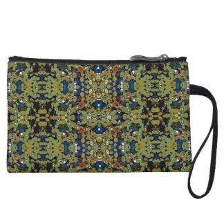 Seaweed camouflage wristlet purses