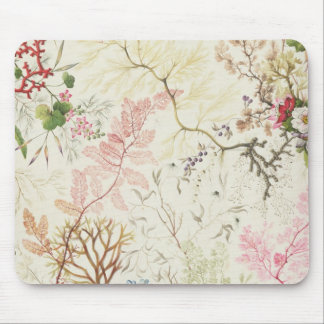 Seaweed design for silk material (w/c on paper) mouse mat