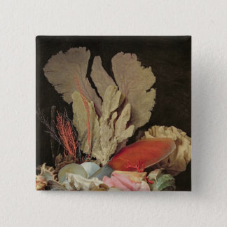 Seaweed, Lithophytes and Seashells 15 Cm Square Badge