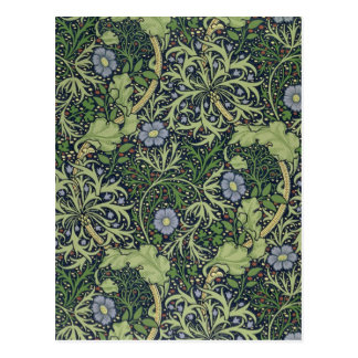 Seaweed Wallpaper Design, printed by John Henry De Postcard