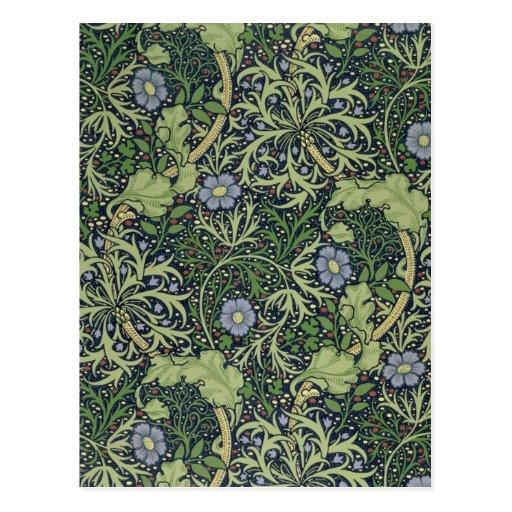 Seaweed Wallpaper Design, printed by John Henry De Post Cards