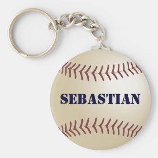 Sebastian Baseball Keychain by 369MyName