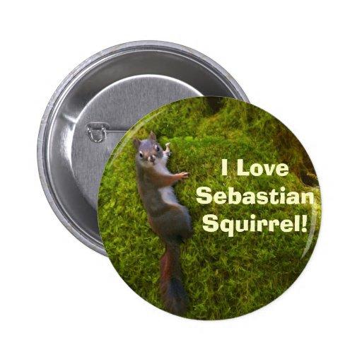 SEBASTIAN SQUIRREL Buttons or Pins