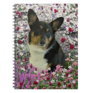 Sebastian the Welsh Corgi in Flowers Notebooks