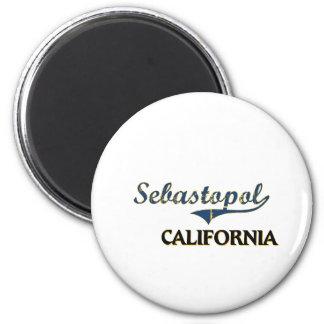 Sebastopol California City Classic 6 Cm Round Magnet