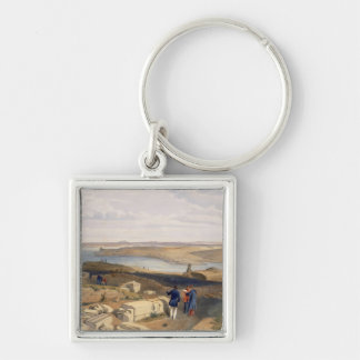 Sebastopol from Old Chersonese, plate from 'The Se Silver-Colored Square Key Ring
