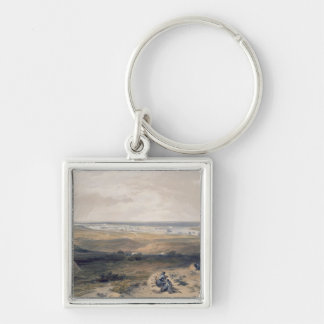 Sebastopol from the East, plate from 'The Seat of Silver-Colored Square Key Ring