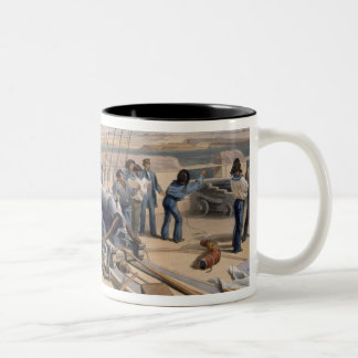 Sebastopol from the Sea, plate from 'The Seat of W Two-Tone Coffee Mug