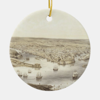 Sebastopol in All Its Glory, 1848, engraved by Day Christmas Ornament