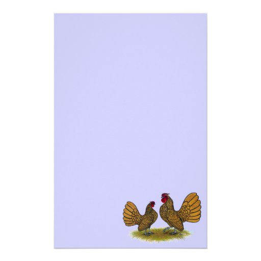 Sebright Bantams:  Golden Personalised Stationery