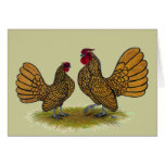 Sebright Bantams:  Golden Stationery Note Card