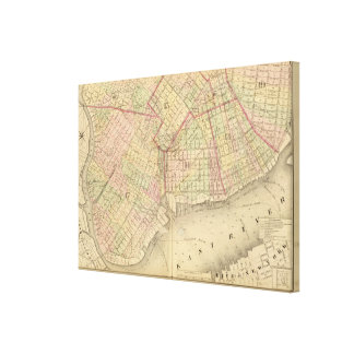 Sec 1 Brooklyn map Canvas Print