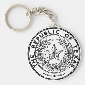 Secede Republic of Texas Basic Round Button Key Ring