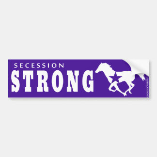 Secession Strong WIld Mustang Bumper Sticker