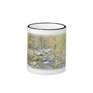 Secluded Creek in the Forest with Matte Mug