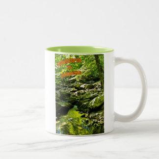 Secluded Stream Two-Tone Mug