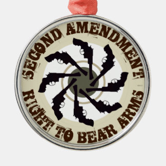 Second Amendment Christmas Ornament