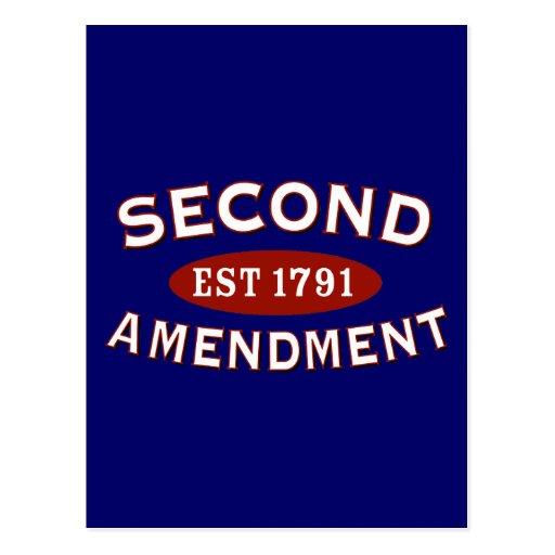 Second Amendment Est. 1791 Post Card