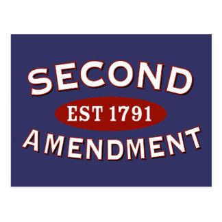 Second Amendment Est 1791 Postcard