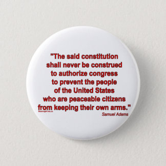 Second Amendment is an Individual Right 6 Cm Round Badge
