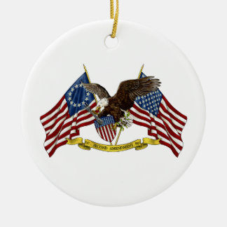 Second Amendment Liberty Eagle Christmas Ornament