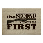 Second Amendment Protects First Amendment Poster