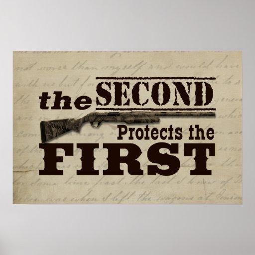 Second Amendment Protects First Amendment Posters
