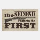 Second Amendment Protects First Amendment Stickers