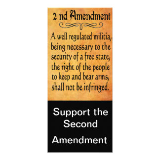 Second Amendment Support cards Personalized Rack Card
