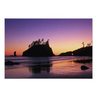 Second Beach at Twilight, Olympic NP, WA, USA Photographic Print