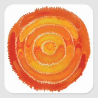 Second Chakra Healing Art #1 Square Stickers