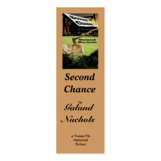 Second Chance mini-bookmark/ business card