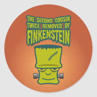 Second Cousin Twice Removed of Finklestein Round Sticker