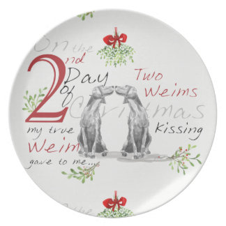 SECOND DAY OF CHRISTMAS WEIMS MELAMINE PLATES