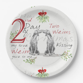 SECOND DAY OF CHRISTMAS WEIMS PAPER PLATES