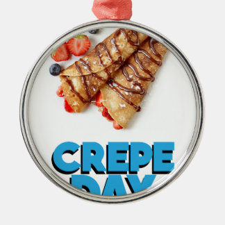 Second February - Crepe Day - Appreciation Day Christmas Ornament