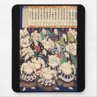 Second generation Utagawa national shine 'large Mouse Pad
