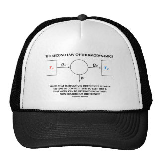 Second Law Of Thermodynamics (Physics) Work Trucker Hat