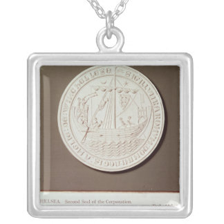 Second seal of the Corporation of Winchelsea Silver Plated Necklace