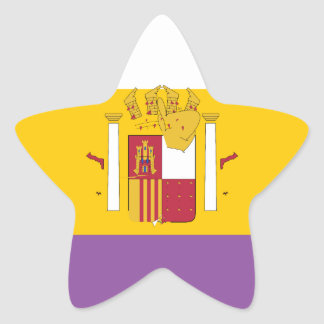 second-spanish-republic-Flag Star Sticker