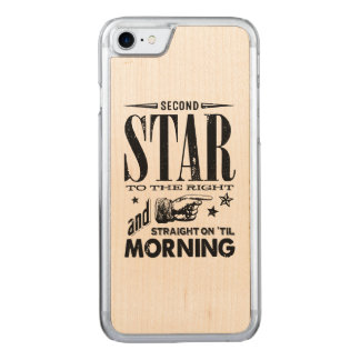 Second Star to the Right Carved iPhone 7 Case