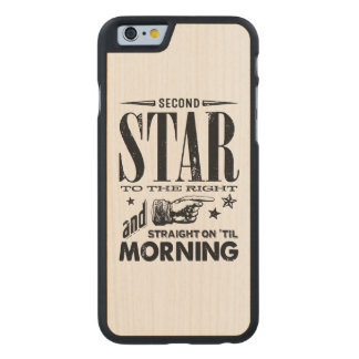 Second Star to the Right Carved Maple iPhone 6 Case