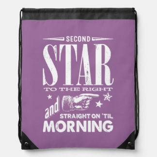 Second Star to the Right Drawstring Bag