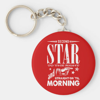Second Star to the Right Key Ring